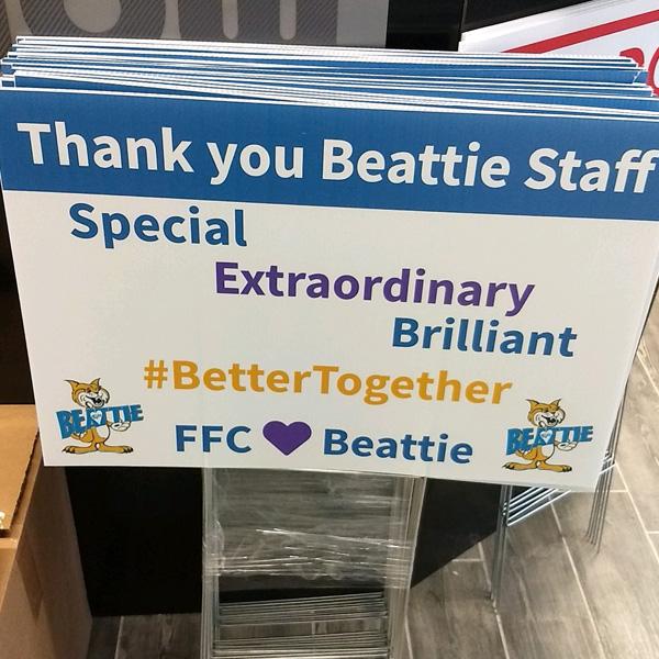 Beattie yard signs